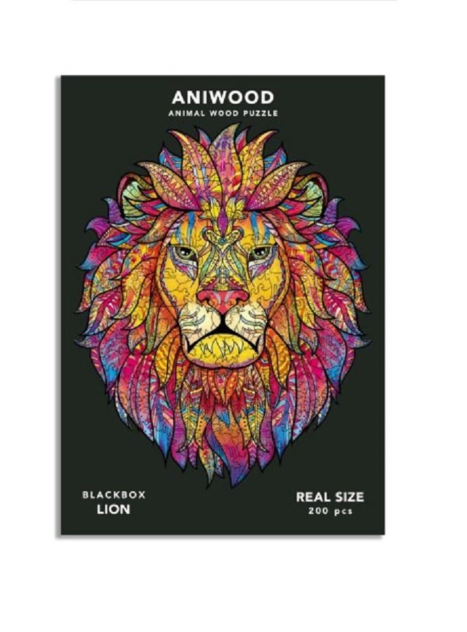 puzle aniwood leon L saltimbanquikids