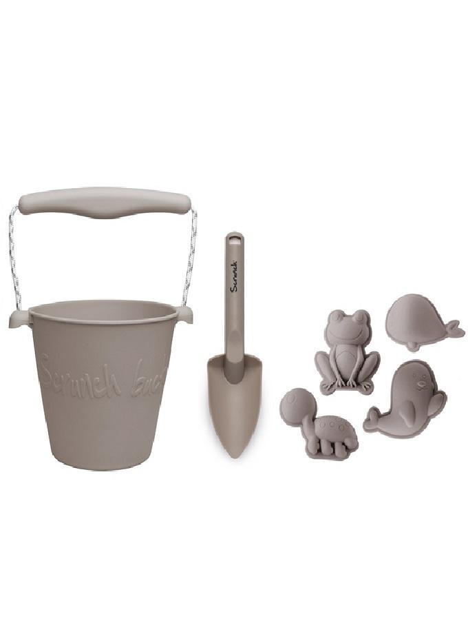 scrunch kit cubo pala y moldes grey Saltimbanquikids